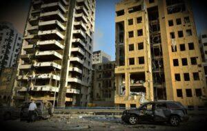 المباني المتضررة من الانفجار
