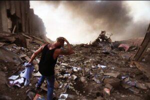 الدمار الحاصل بعد الانفجار