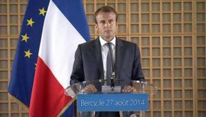 الرئيس الفرنسي ، ماكرون